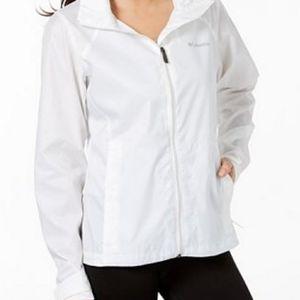 COLUMBIA White Waterproof Light Weight Jacket